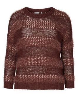 21005189 KNIT JRWALOHA LS PULLOVER-S DECADENT CHOCOLATE