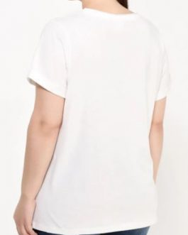21005812 JRNOPE SS T-SHIRT-S SNOW WHITE