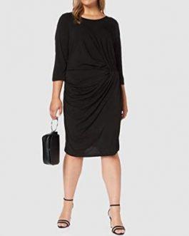 21006775 JRSANJA 34 SHAPED ABOVE KNEE DRESS-S BLACK