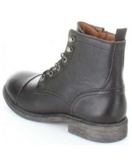 16063465 SLHTERREL LEATHER BOOT W NOOS BLACK
