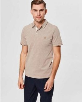 16065598 POLO SLHTWIST SS POLO W NOOS SEPIA TINTTWISTED WI